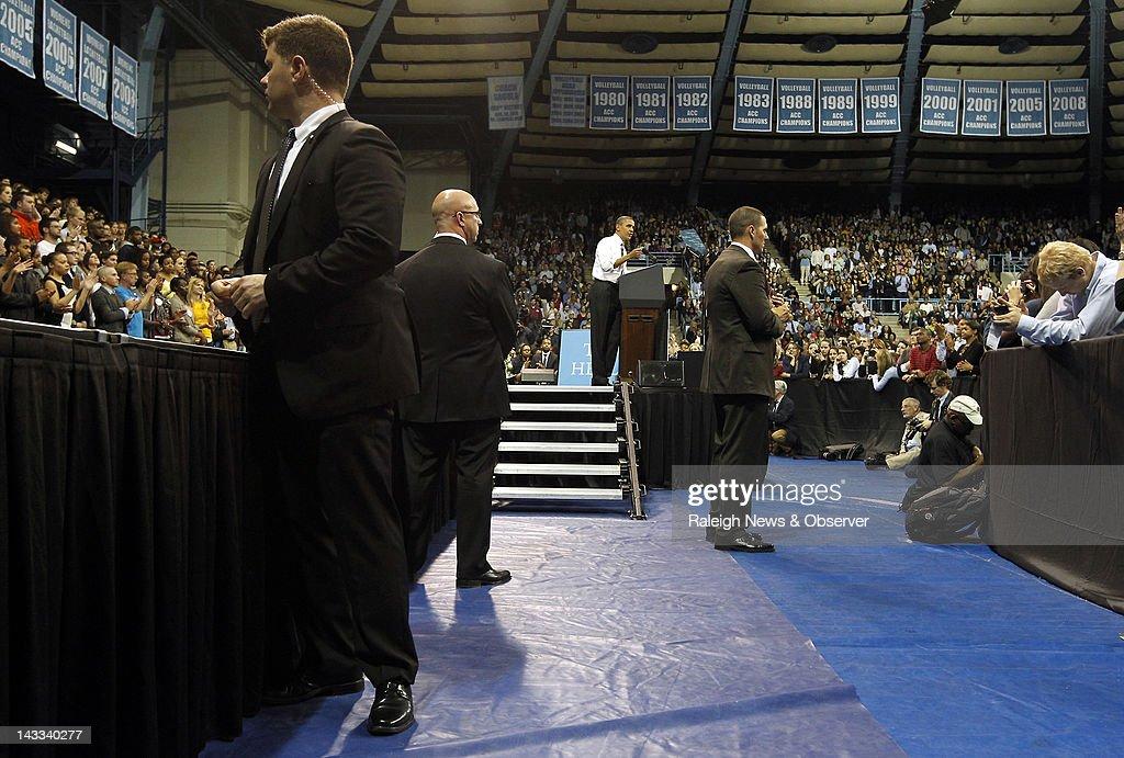 Obama in North Carolina : Nachrichtenfoto