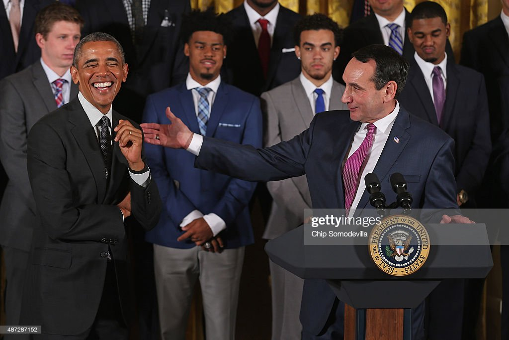 Obama Welcomes NCAA Champion Duke Blue Devils To White House