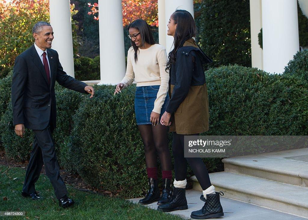 US-POLITICS-THANKSGIVING-OBAMA : News Photo
