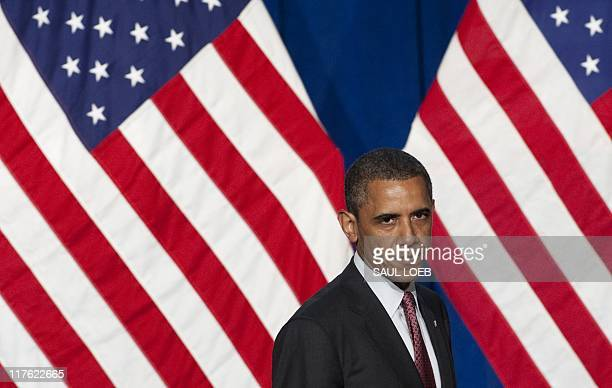 US President Barack Obama leaves after speaking at the Democratic National Committee's Lesbian Gay Bisexual Transgender Leadership Gala in New York...