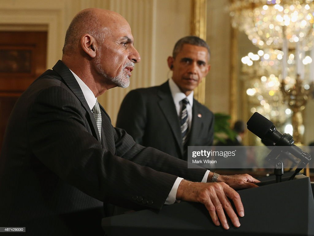 President Obama Holds News Conference With Afghan President Ghani : News Photo