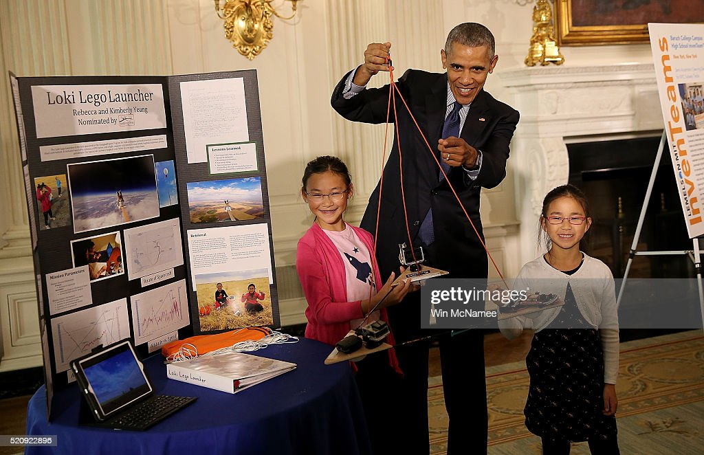 President Obama Attends White House Science Fair : News Photo