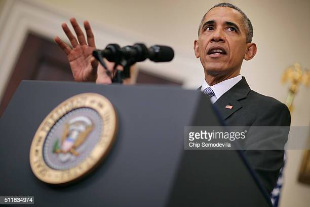 President Barack Obama makes a statement about his plan to close the detention camp at the Guantanamo Bay Naval Base and relocate the terrorism...