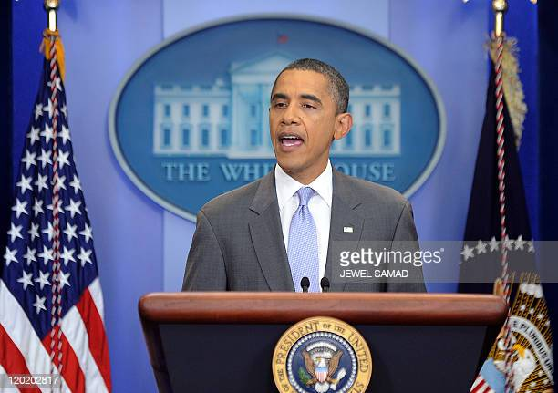 US President Barack Obama makes a statement at the White House in Washington DC on July 31 2011 US President Barack Obama announced late Sunday that...