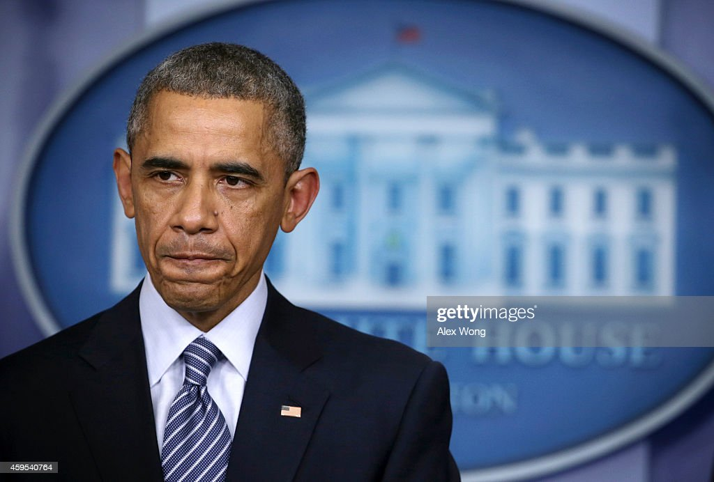 President Obama Makes Statement On Grand Jury Decision On Ferguson Shooting
