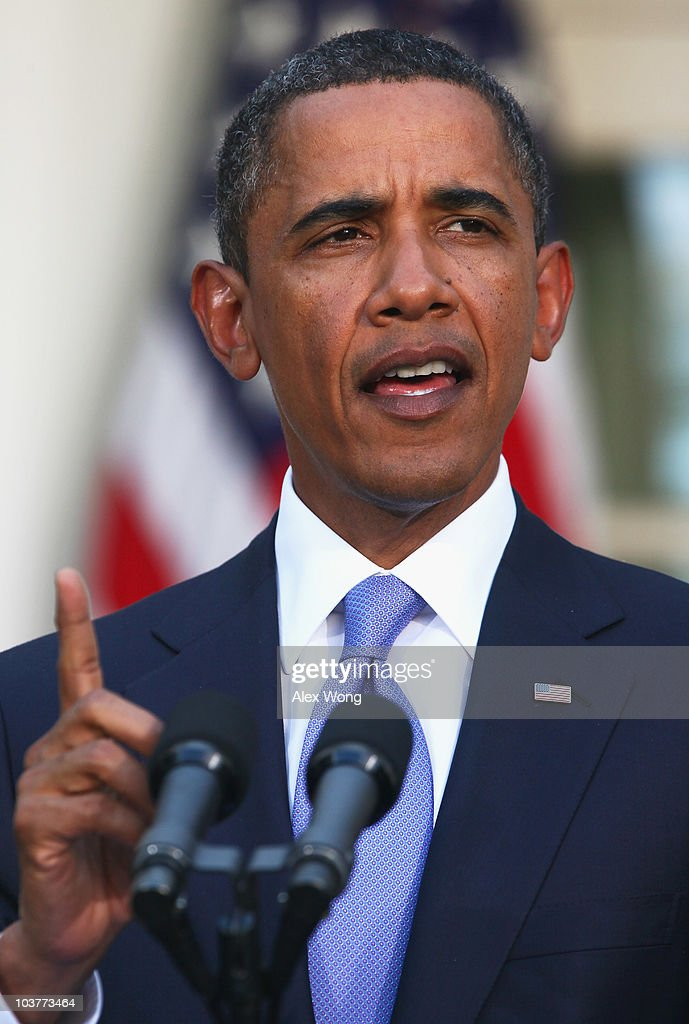 U.S. President Barack Obama makes a statement in the Rose Garden after bilateral meetings with leaders of Middle East countries, including Palestinian Authority President Mahmoud Abbas, Israeli Prime Minister Benjamin Netanyahu, Egyptian President Hosni Mubarak and Jordan�s King Abdullah II, September 1, 2010 in Washington, DC. The White House has kicked off a new round of direct peace talks for the Middle East, the first one in more than 18 months.