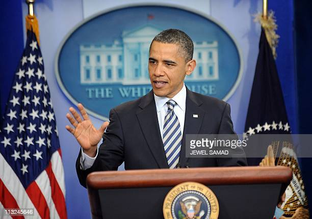 US President Barack Obama makes a statement on his birth certificate at the White House in Washington DC on April 27 2011 Obama said Wednesday he was...