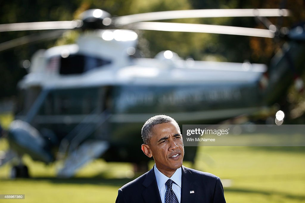President Obama Delivers Statement On Recent Airstrikes Against ISIL In Syria : News Photo
