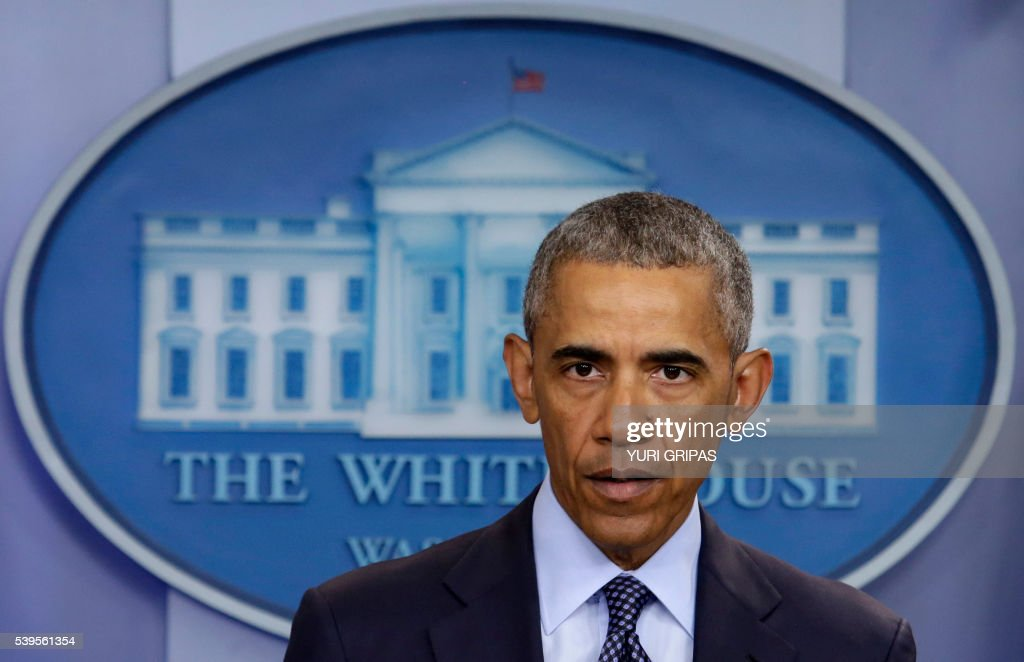 US President Barack Obama makes a statement on the mass shooting at an Orlando, Florida nightclub in the White House Briefing Room in Washington, DC on June 12, 2016. Fifty people died and another 53 were injured when a gunman opened fire and seized hostages at a gay nightclub in Florida, police said Sunday, making it the worst mass shooting in US history. /