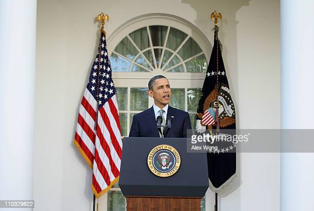 S President Barack Obama makes a statement on the worsening nuclear crisis at the Fukushima Daiichi nuclear power plant in northeastern Japan March...