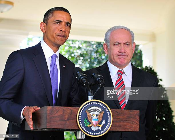 S President Barack Obama makes a statement with Israeli Prime Minister Benjamin Netanyahu about the killings in the West Bank following their meeting...