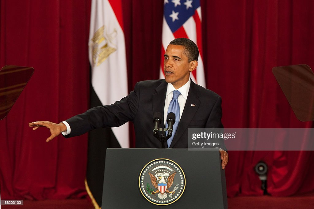 President Barack Obama Makes Key Speech In Cairo : News Photo