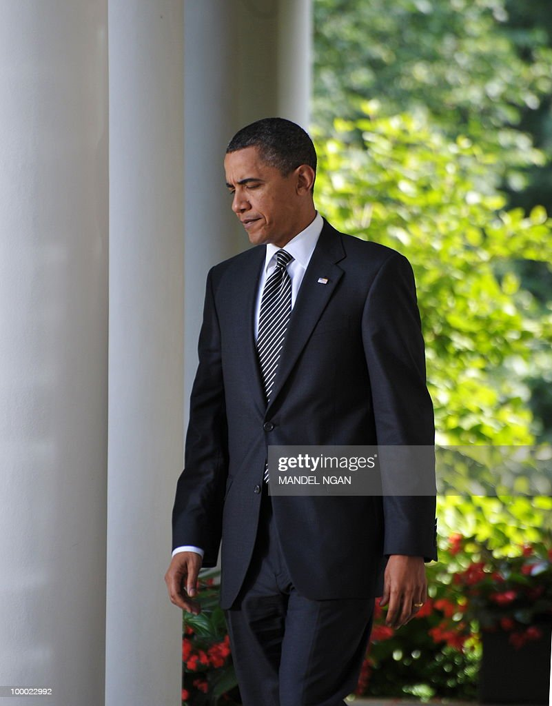 US President Barack Obama makes his way through the Colonnade for a statement on Wall Street reform May 20, 2010 in the Rose Garden of the White House in Washington, DC. The US Senate voted Thursday to end debate on the most sweeping overhaul of financial industry rules since the Great Depression of the 1930s. AFP PHOTO/Mandel NGAN