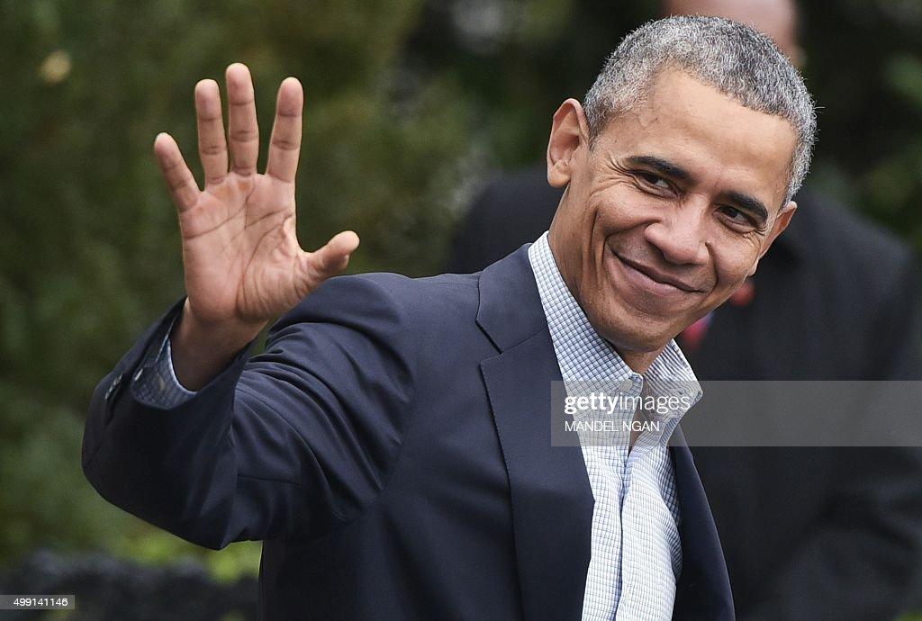 US-CLIMATE-WARMING-UN-COP21-OBAMA : News Photo