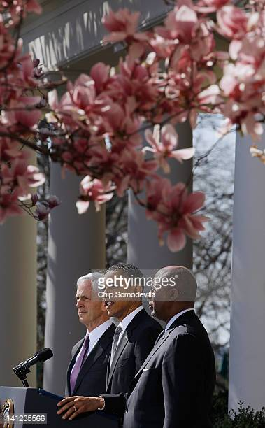 S President Barack Obama makes remarks about a trade case against China with Commerce Secretary John Bryson and Trade Representative Ron Kirk in the...