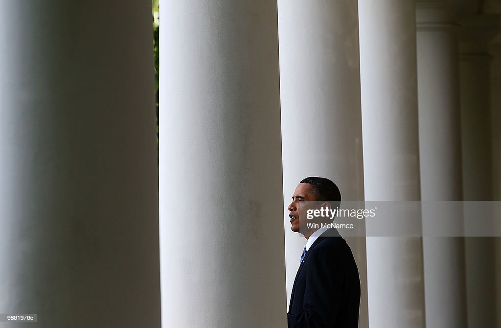 U.S. President Barack Obama makes remarks during a reception marking Earth Day at the White House April 22, 2010 in Washington, DC. Today marks the 40th anniversary of the Earth Day movement.