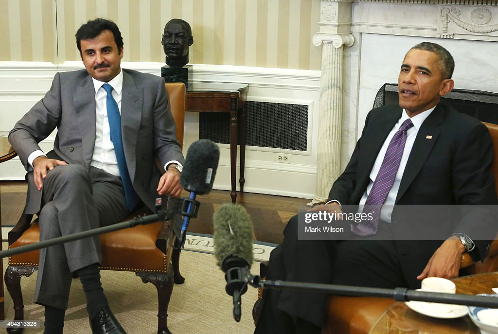 President Obama Meets With Amir Of Qatar At White House