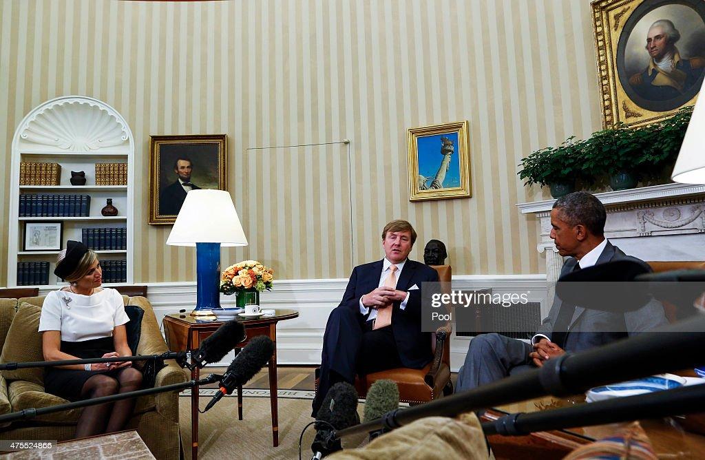 Dutch King And Queen Visit Washington : News Photo