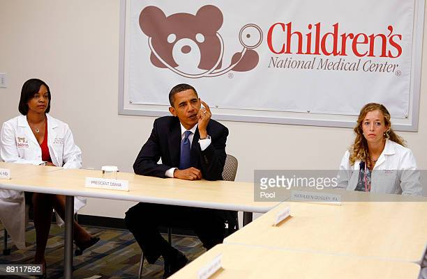 President Barack Obama meets with healthcare providers at Children's National Medical Center July 20, 2009 in Washington, DC. According to reports,...