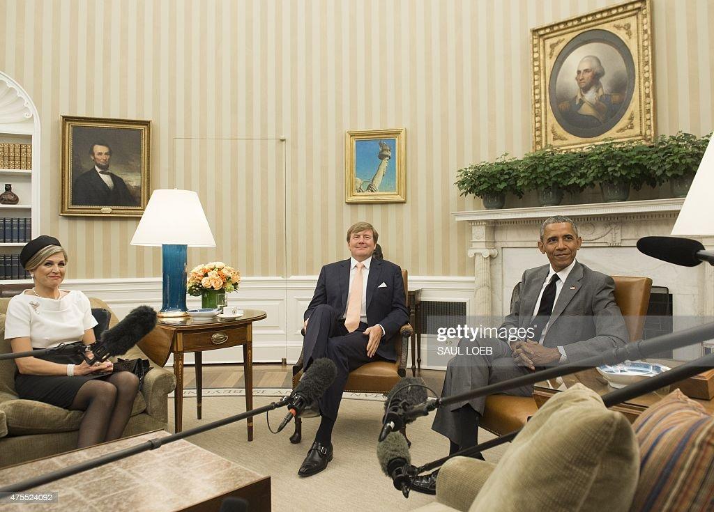US-NETHERLANDS-DIPLOMACY-OBAMA-ROYALS : News Photo