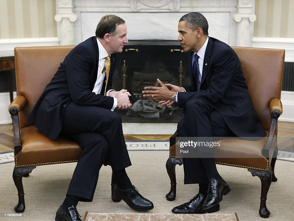 Obama Meets With New Zealand PM : News Photo