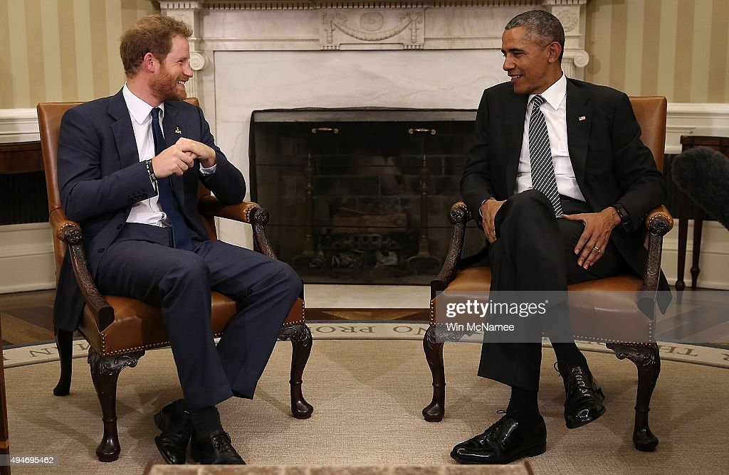 President Obama Welcomes UK's Prince Harry To White House : News Photo