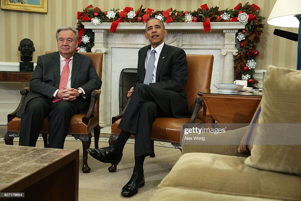 President Obama United Nations Secretary-General-Designate Guterres At The White House
