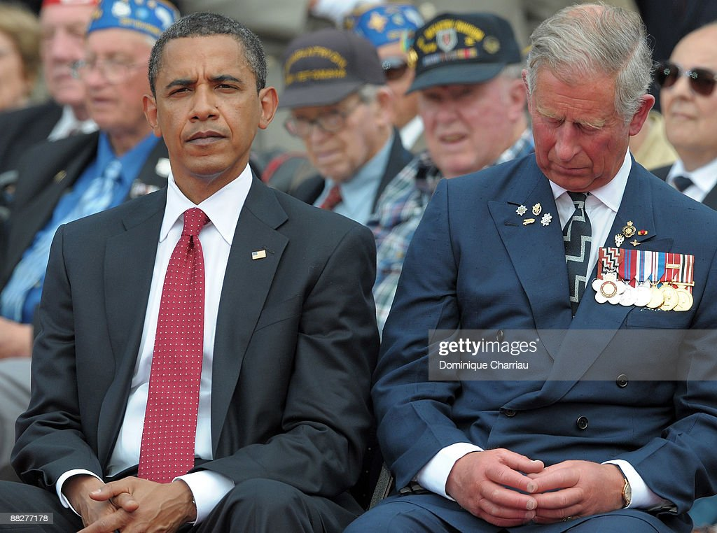 President Barack Obama Of The US And Prince Charles Wales Attend 65th D