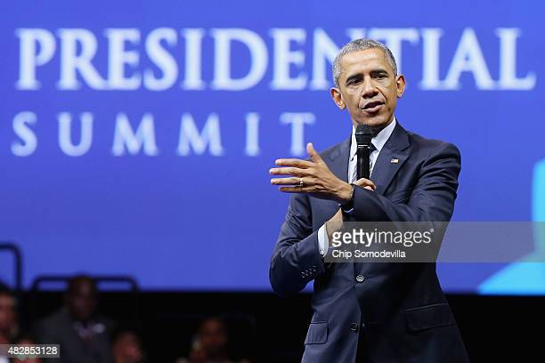 S President Barack Obama participates in a town hallstyle questionandanswer session with participants from the Young African Leaders Initiative...