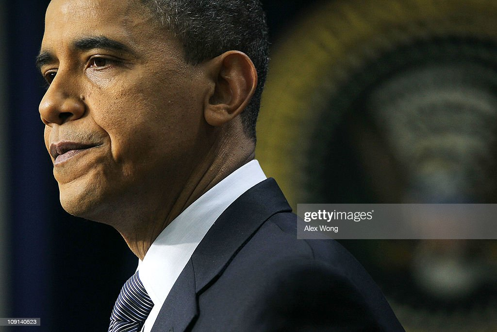 President Obama Holds News Conference At White House : News Photo