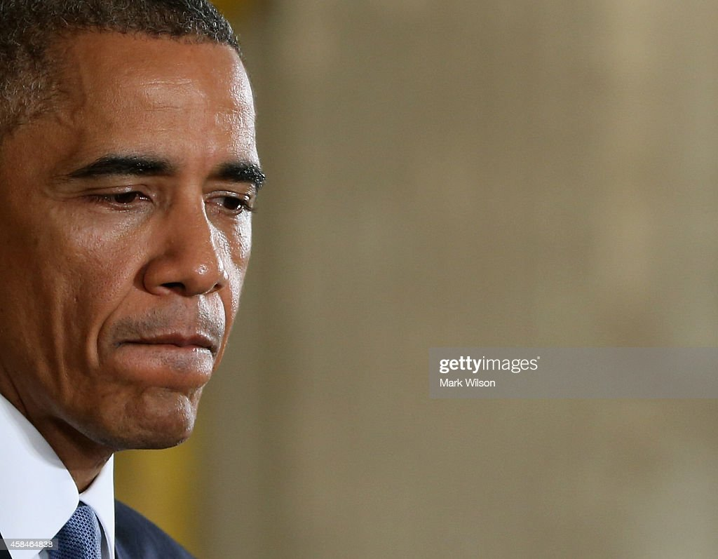 President Obama Holds A News Conference Day After Midterm Elections : News Photo