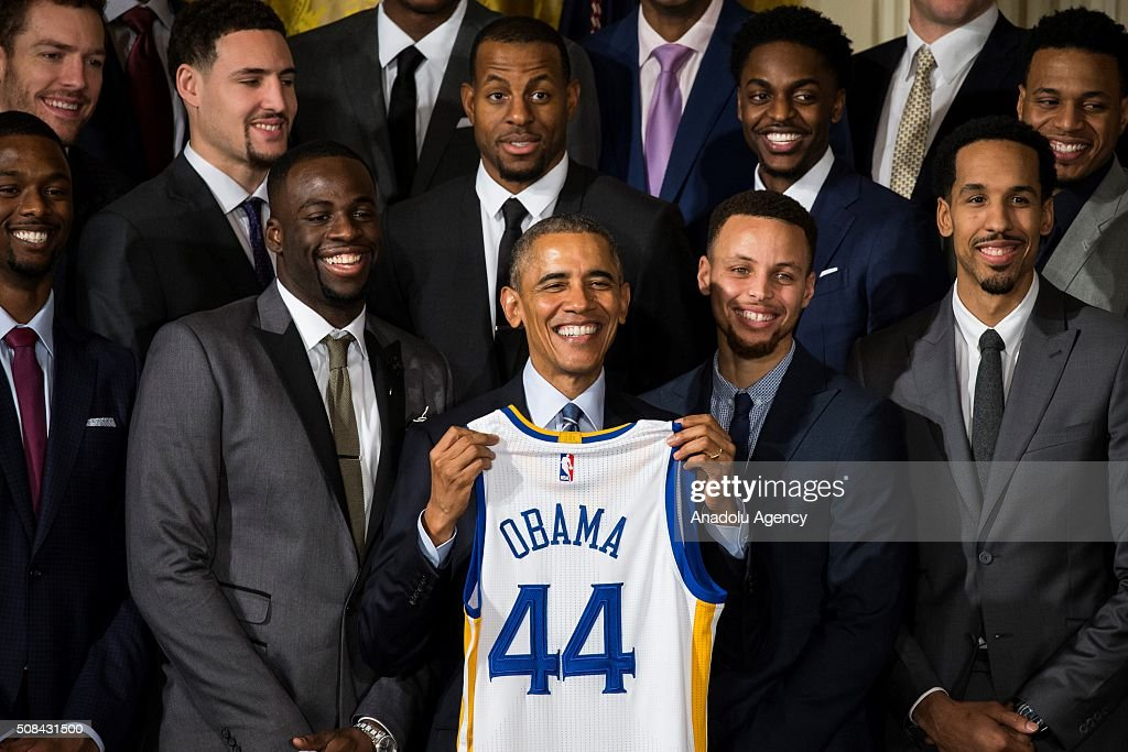 Golden State Warriors honored at White House : News Photo