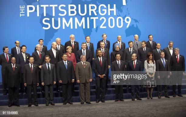 President Barack Obama poses with Brazilian President Luiz Inacio Lula da Silva , Chinese President Hu Jintao , French President Nicolas Sarkozy ,...