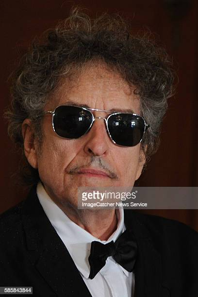 President Barack Obama presents the Presidential Medal of Freedom to legendary singer Bob Dylan during the prestigious ceremony that is known as the...