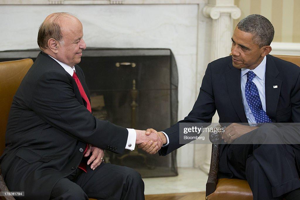 President Obama Meets With Yemeni President Abdurabuh Mansur Hadi : News Photo