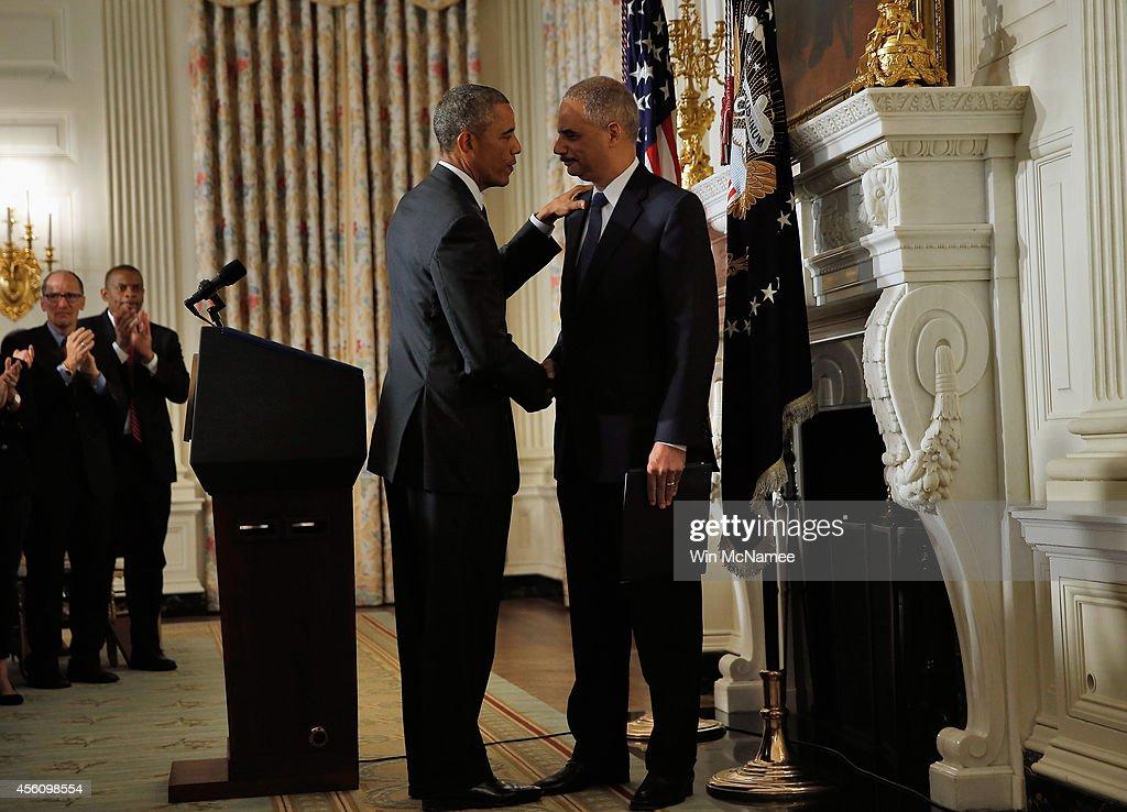 President Obama Announces Resignation Of Eric Holder