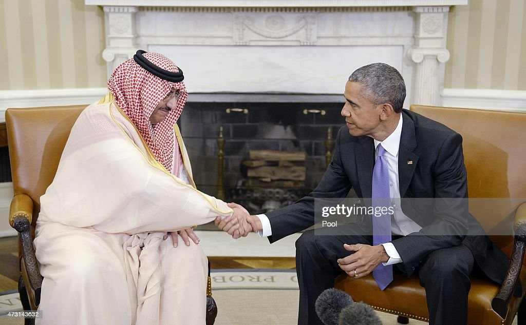Saudi Crown Prince Prince Mohammed Bin Nayef Arrives At White House For Meeting With Obama