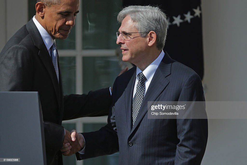 President Obama Announces Merrick Garland As His Nominee To The Supreme Court : News Photo