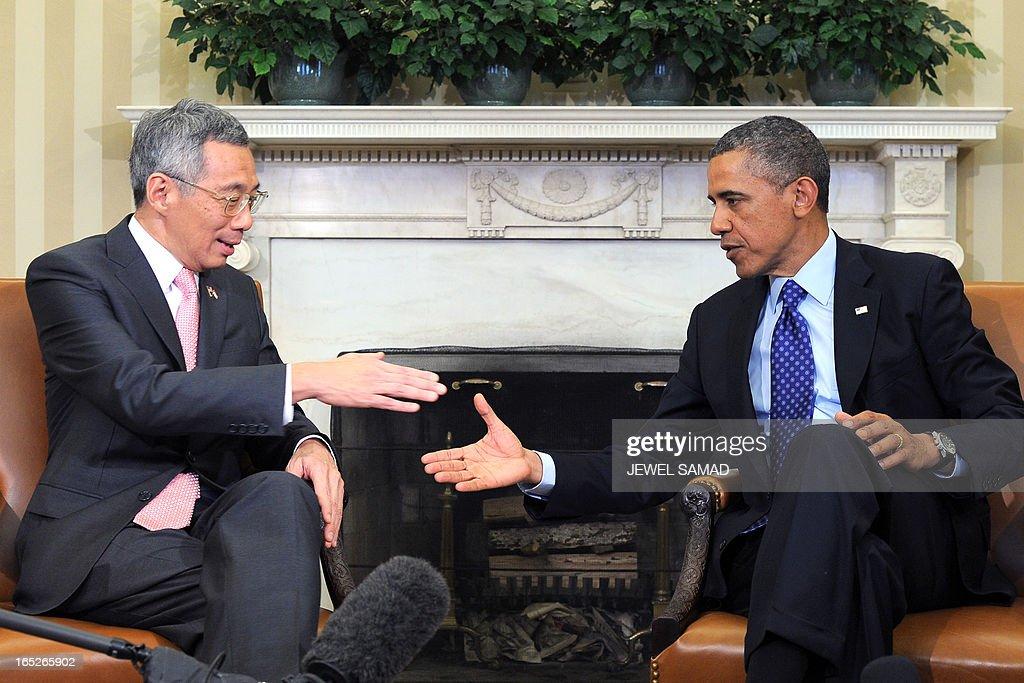 US-SINGAPORE-POLITICS-OBAMA-LEE : News Photo