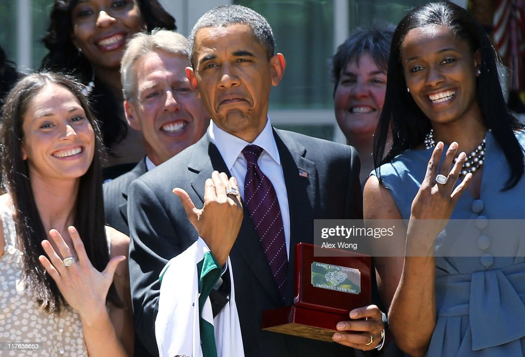Obama Meets With WNBNA Champion Seattle Storm At The White House