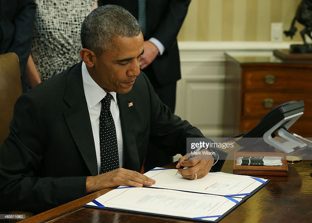President Obama Signs Extension Of National Wildlife Area Act : News Photo