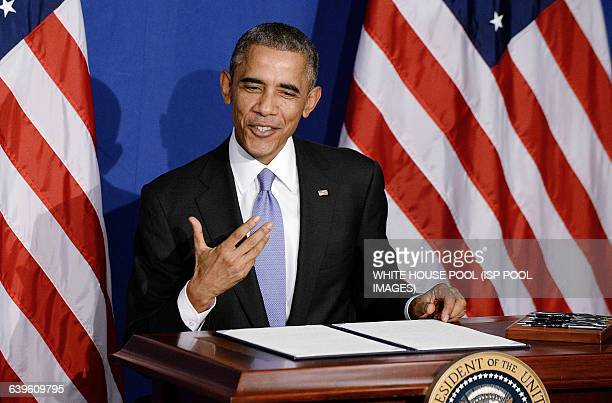President Barack Obama signs the new BuySecure Initiative that direct the government to lead by example in securing transactions and sensitive data...