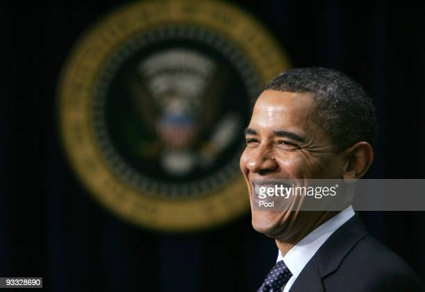 President Barack Obama smiles at an event highlighting initiatives designed to boost science, technology, engineering, and mathematics education at...