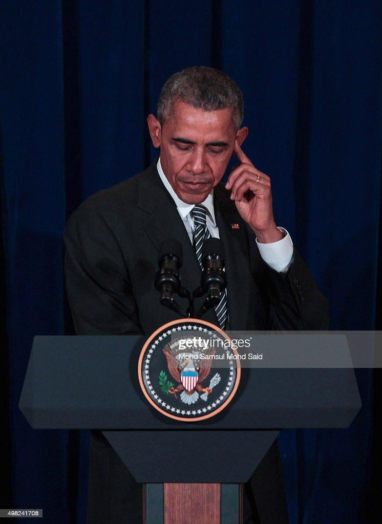 US President Barack Obama Visits Malaysia : Fotografía de noticias