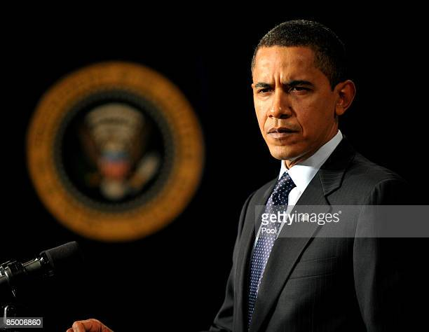President Barack Obama speaks about his upcoming budget during the close of the Fiscal Responsibility Summit in the East Room at the White House...