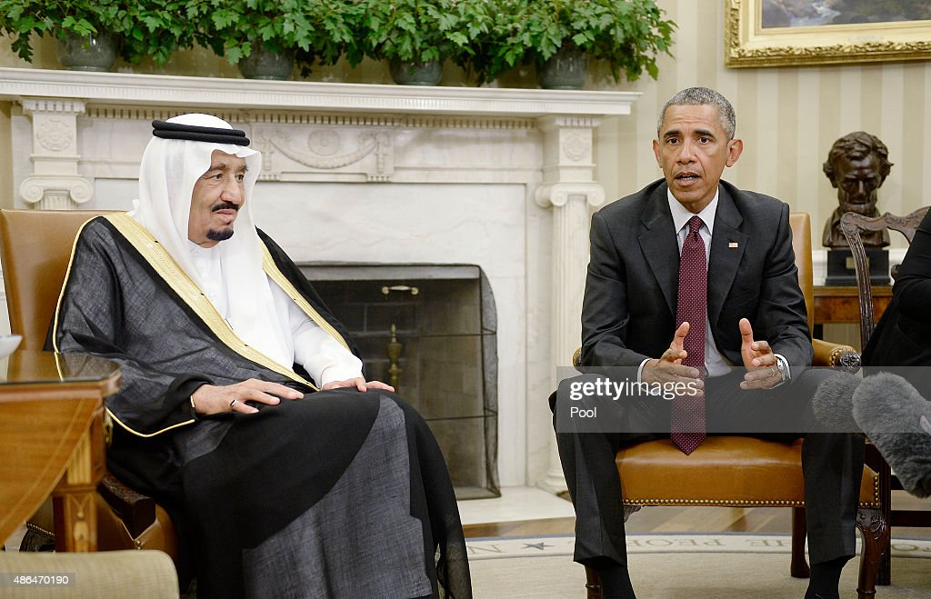 President Obama Hosts Saudi King Salman Bin Abd al Aziz At The White House : News Photo