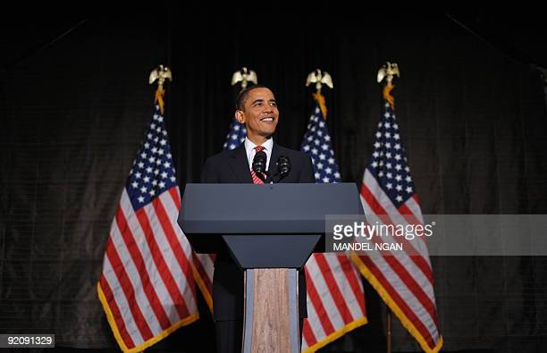 US President Barack Obama speaks at a fundraiser for the Democratic National Committee October 20 2009 at a hotel in New York City AFP PHOTO/Mandel...
