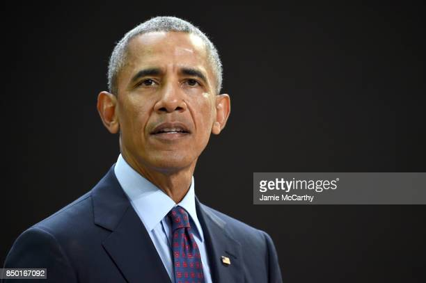 President Barack Obama speaks at Goalkeepers 2017 at Jazz at Lincoln Center on September 20 2017 in New York City Goalkeepers is organized by the...