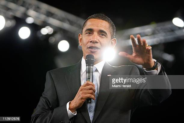 President Barack Obama speaks at his second town hall meeting Tuesday February 10 in Fort Myers Florida