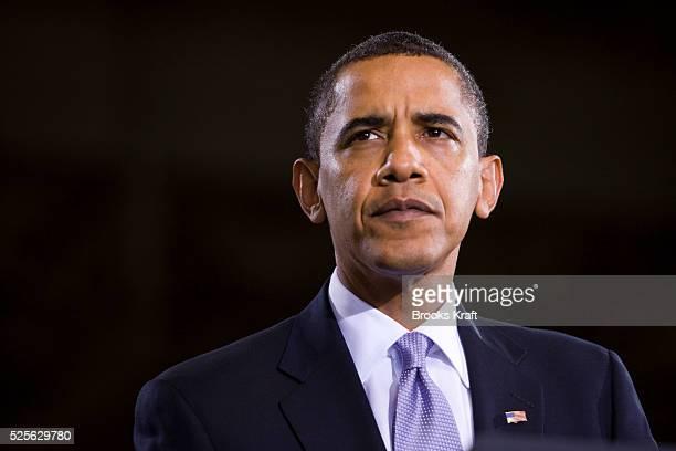 President Barack Obama speaks at Monaco RV manufacturing in Wakarusa Indiana | Location Wakarusa Indiana USA